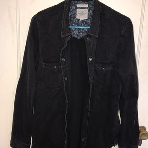 American Eagle black soft jean jacket